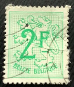 Belgium Stamps Number On Heraldic Lion 2 Belgian Franc 1968 Ebay