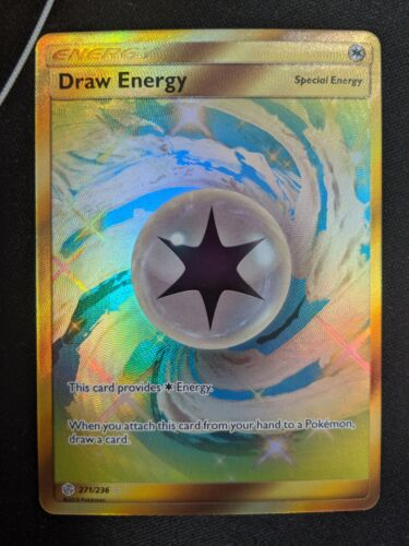 Draw Energy 271//236 Cosmic Eclipse Pokemon Card Gold Secret Rare NM