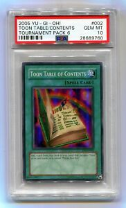Yu-Gi-Oh-Tournament-Pack-6-Toon-Table-of-Contents-TP6-EN002-Super-PSA-10-MINT