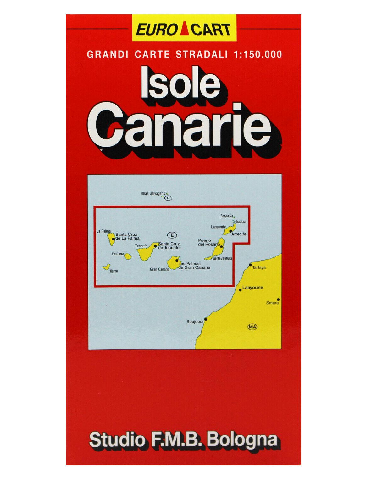 Tenerife Cartina Stradale.Isole Canarie Cartina Stradale Scala 1 150 000 Carta Mappa Studio F M B Ebay