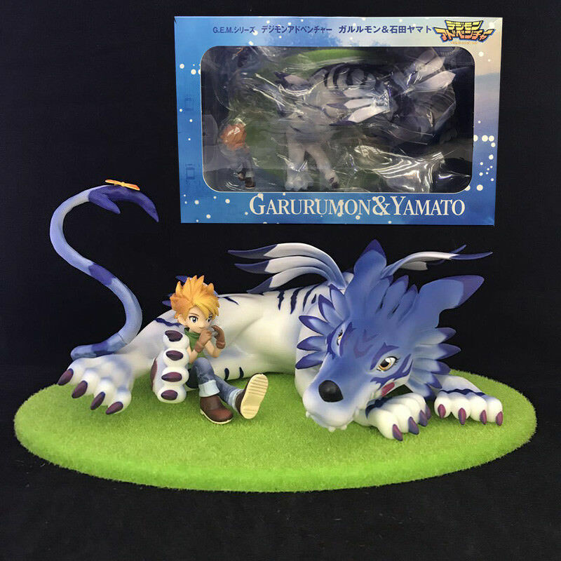 G.E.M. series Digimon Adventure Garurumon & Ishida Yamato Action Figure Figurine