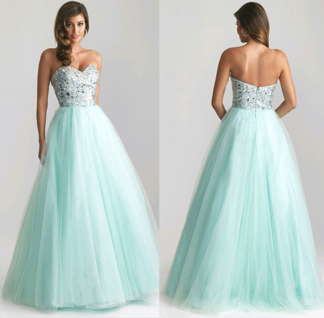 WOmen Long Sexy Evening Party Sequins Prom Gown Formal Bridesmaid Cocktai Dress