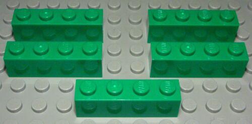 Lego Stein 1x4 Grün 2 Stück 1356