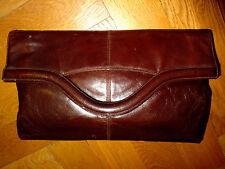 TRUE VINTAGE orig. Bally Clutch (Handtasche Shopper) Schoko, Leder