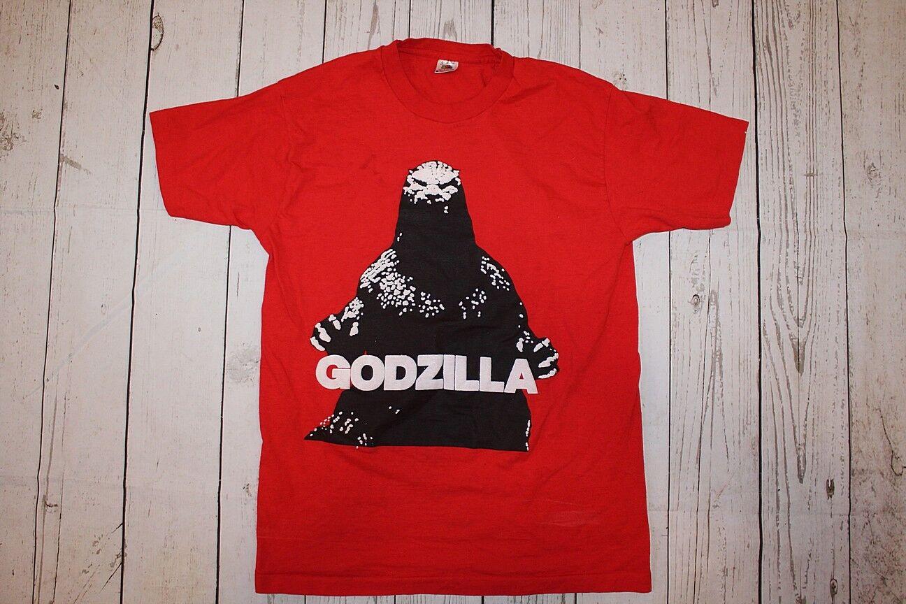63b4c81179 Vintage Godzilla Raised Print Movie Horror SiFi T-shirt tee ...