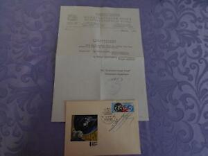 Sojus 18 Beleg original signiert Sevastjanov,Klimuk Coa Space