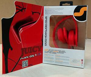 VIBE-AUDIO-SLICK-ON-EAR-RED-HEADPHONES