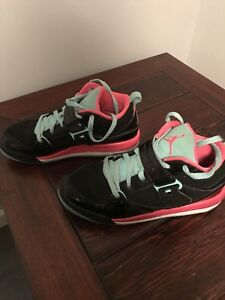 c528fcaa4d34 Nike Air Jordan Jumpman Girls 6Y Basketball Shoe Black Green Pink   eBay