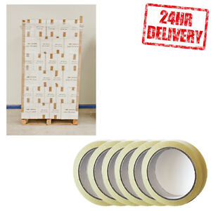 1 Pallet (6480 Rolls) Clear 24mm x 50m Parcel Packing Tape CLEARANCE LOT