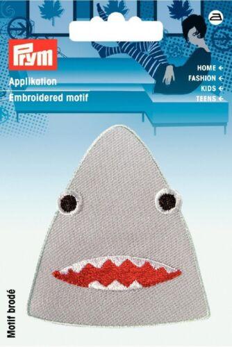 924203 Prym Hierro en apliques bordados Motif Tiburones Head-cada uno