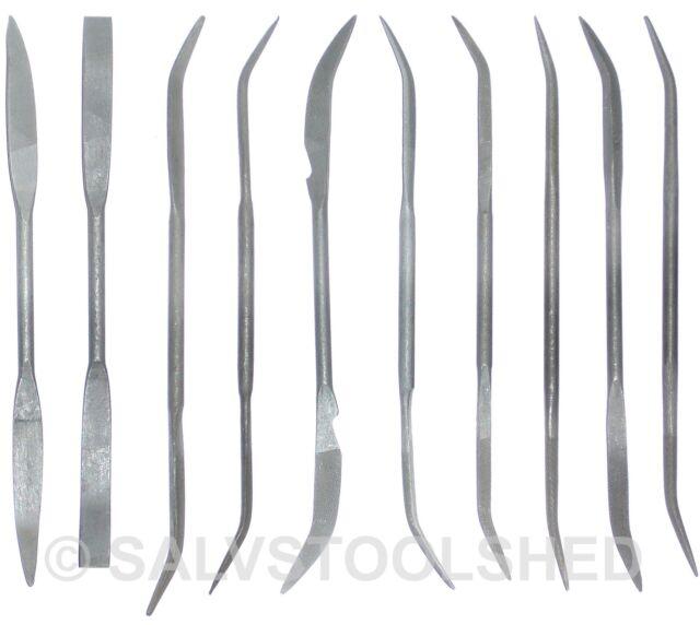 10 Piece Riffler File Set Curved Files Metal Working 180mm