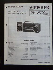 Tv, Video & Audio Original Service Manual Fisher High Fidelity System Ph-w702l KöStlich Im Geschmack