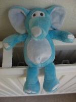 CUDDLE CREW ASDA AQUA BLUE PALE ELEPHANT SOFT CUDDLY TOY TEDDY BEAR NEXT EASTER