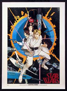 STAR-WARS-LUKE-SKYWALKER-HOWARD-CHAYKIN-VERY-FIRST-STAR-WARS-POSTER-1976-ROLLED