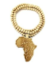 8 x natural wood afican map necklace wooden africa pendant rasary new africa wood pendant 8mm36 wooden bead chain hip hop necklace wj192 aloadofball Image collections
