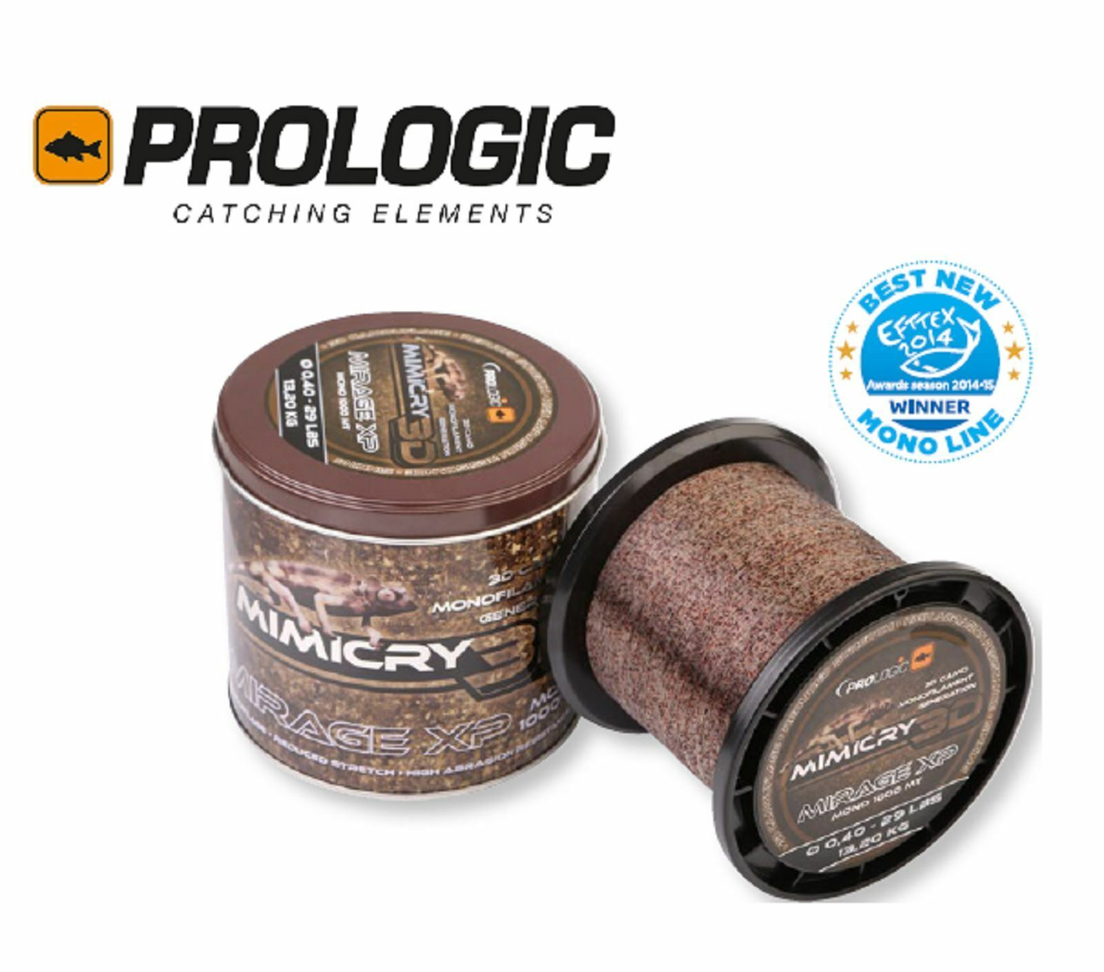 Prologic mimicry mirage xp Camouflage monofilaSiet line 1000m 0.25 - 0.35mm