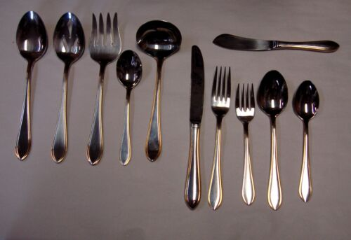 Towle NEWBURY THREAD GOLD Stainless FLATWARE Choice Piece