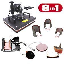 Digital Heat Press Machine 8in1 Combo, Multifunctional Transfer Sublimation PJ42