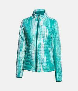 0a2f04135e16 Details about NWT $200 Under Armour UA ColdGear Infrared Micro Jacket SizeL  Teal Green 1259514