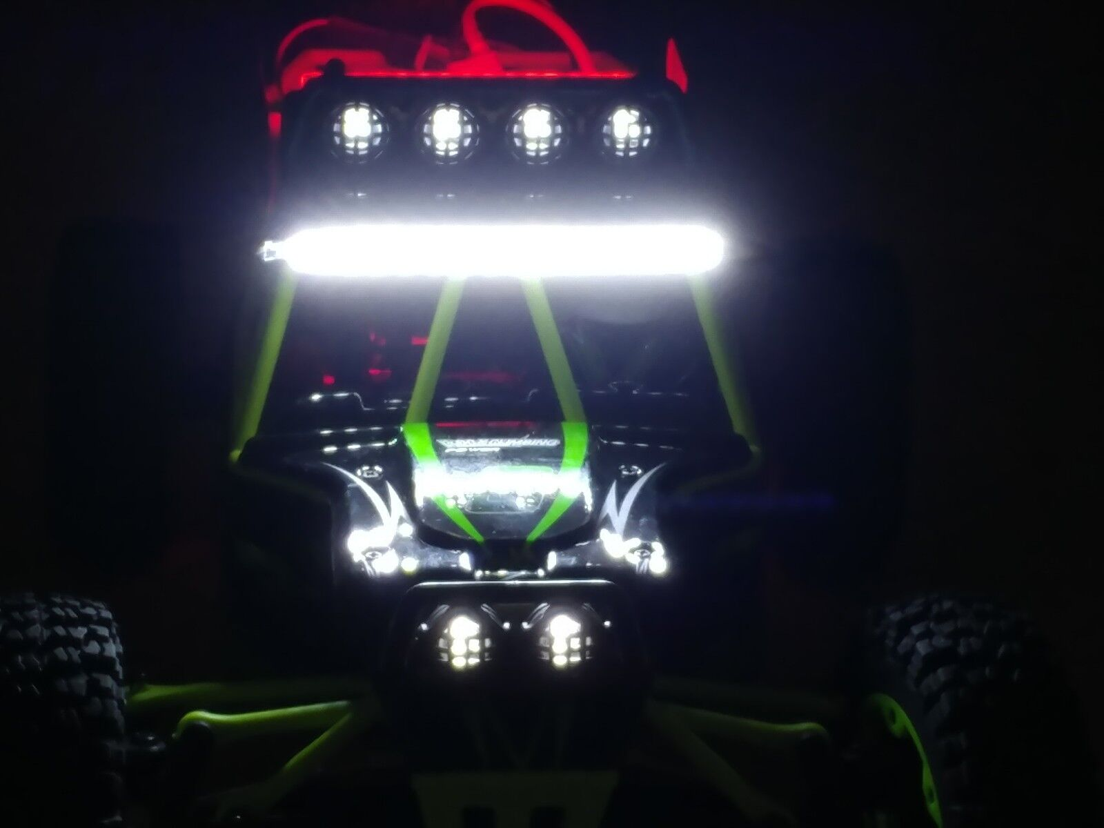 Arrive before Xmas. Wltoys 12428 RC 4WD racer w/front & rear LED light bar.