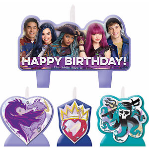 Disney Descendants 2 Candle Set Birthday Party Supplies ...