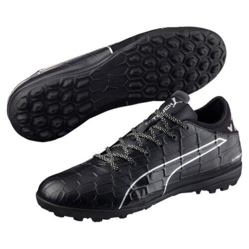 Puma Para hombres sockbota Césped Artificial Zapatillas Evotouch 3TT Negro