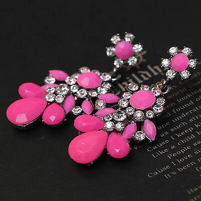 wholesale design women gorgeous bib statement  mixed crystal long 55cm Earrings