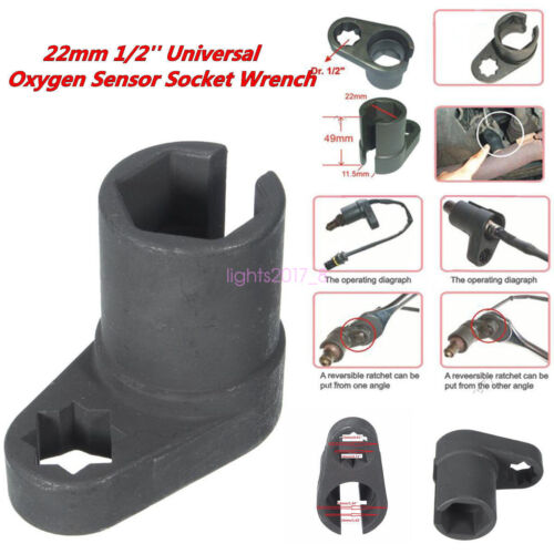 "Universal Oxygen Sensor Vacuum Switch Flare Nut Socket Tool 22mm 1//2/""Drive Black"