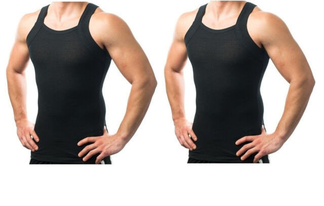 318fc4075 Different Touch Mens G-unit Style Tank Tops Square Cut Muscle Rib A-shirts  - La