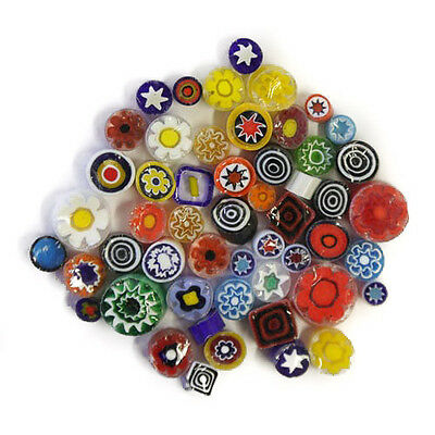 Millefiori from Murano for mosaics, glass art etc - 50g bags (approx 1.75oz) mix
