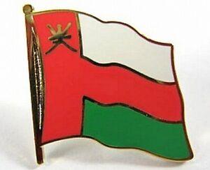 Oman-Flaggen-Pin-Anstecker-1-5-cm-Neu-mit-Druckverschluss