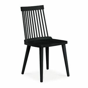 Pleasing Details About Elsa Scandinavian Black Beech Wood Dining Chair Set Of 2 Forskolin Free Trial Chair Design Images Forskolin Free Trialorg