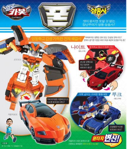 Hello Carbot Trio Pown Pone Phone Transformers Transforming Car Robot figure set