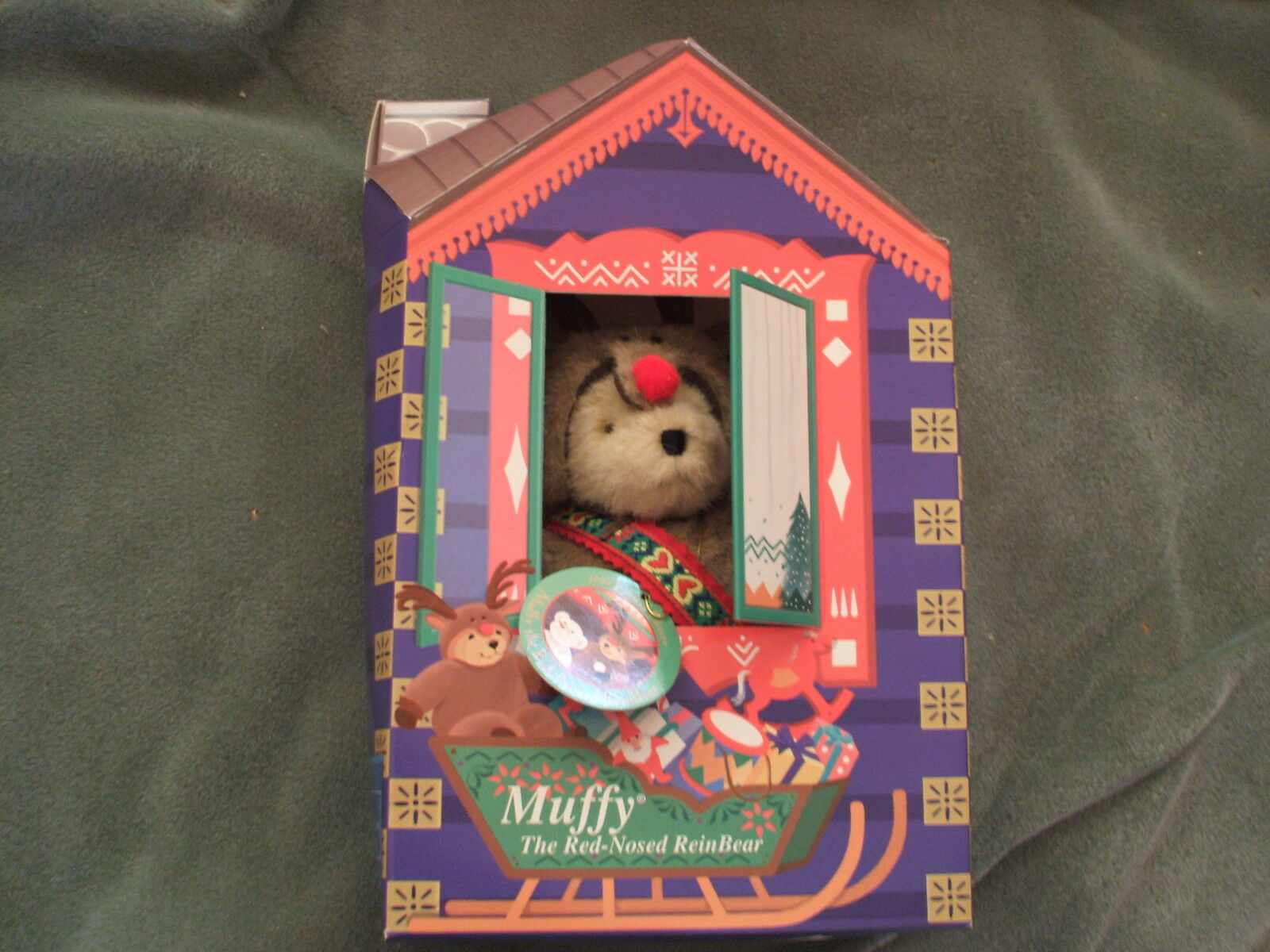 NABC - Muffy VanderBear - LE Christmas - Muffy the Red-nosed Reinbear - in box