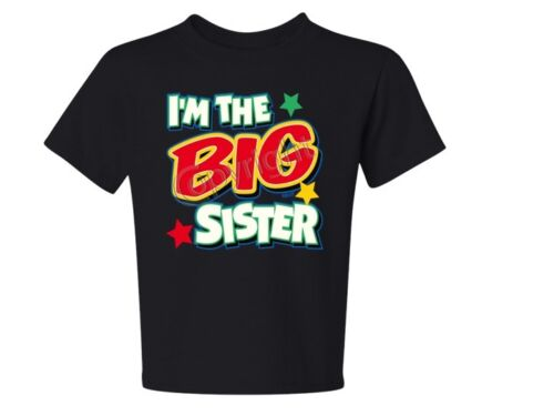 Color TEE SIZE 6 Months To 18-20=XL THE BEST I/'M The Big Sister With Green Asst
