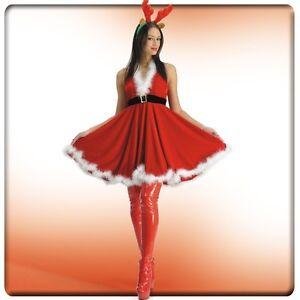 """Mère Noël """"Khristal"""" évasée décolletée dos nu [27035] deguisement costume soirée"""