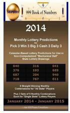 2018 Monthly Lottery Predictions for Pick 4 Win 4 Big 4 Cash 4 Daily