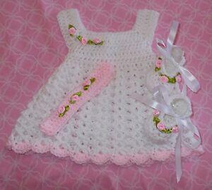 Handmade-Crochet-baby-set-Preemie-amp-Newborn-by-Rocky-Mountain-Marty