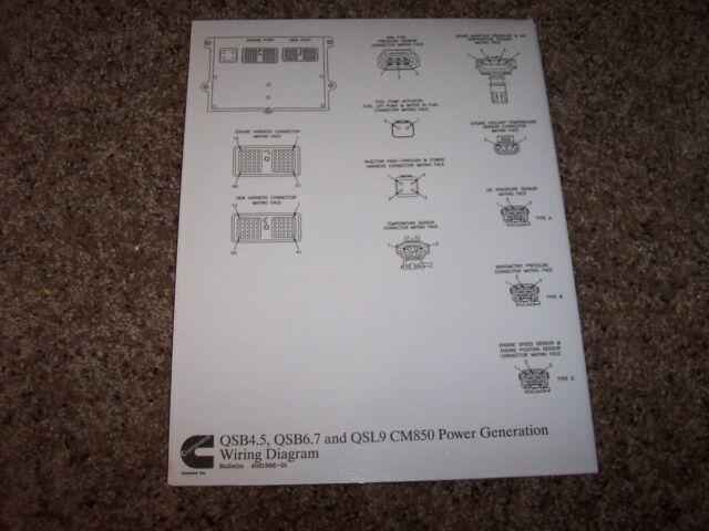 Cummins Qsb4 5 Qsb6 7 Qsl9 Cm 850 Electrical Wiring