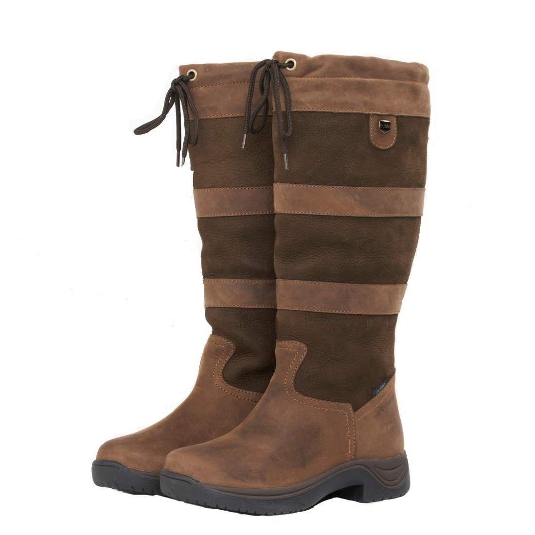 Señoras botas Impermeables de Río de Dublín, Dublín, de Talla 4, becerro ancho normal o, 125 Libras. Gratis PP d58a94