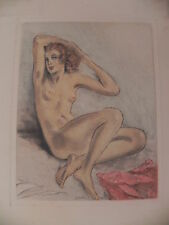 Edouard Chimot litografia originale 1940 nudo femminile nude woman erotico