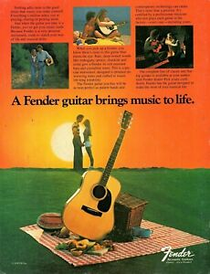 vtg-70s-80s-FENDER-ACOUSTIC-GUITAR-MAGAZINE-PINUP-PAGE-Love-Bring-Music-To-Life