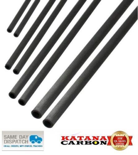 0.5 M Premium 100/% Carbon Fiber Tube Pultruded UD 1 x OD 6mm x ID 4mm x 500mm