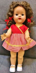 Vintage-1950-039-s-TINY-13-5-034-Saucy-Walker-type-doll-walking-working-crier-SO-CUTE