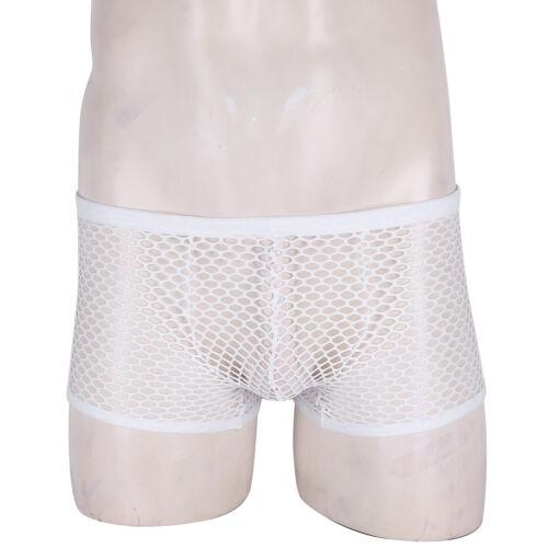 Men Sheer Mesh Underwear Bulge Pouch Thongs Bikini G-String Briefs Underpants
