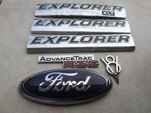 Details About 06 09 Ford Explorer Xlt V8 Advance Trac Rsc 6l24 7843156 Ba Logo Emblem Set Of 6