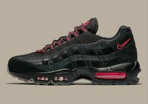 save off f7b4b 6d139 Image is loading Nike-Air-Max-95-Black-Infrared-Red-AV7014-
