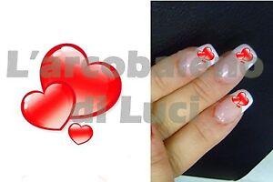 Details About 20 Pegatinas Para Uñas Corazones Rojos Corazón Red Hearts Nail Art Stickers