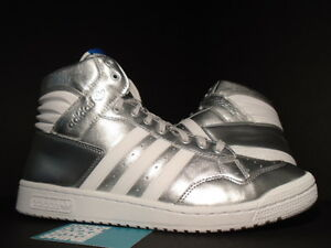 premium selection 51941 98180 Image is loading 2013-ADIDAS-SUPERSTAR-CONFERENCE-HI-METALLIC-SILVER-WHITE-