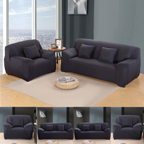 Stretch Sofa Couch Covers Furniture Protector Slipcovers for 1 2 3 4 Seater Sofa